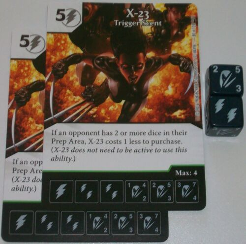 TRIGGER SCENT 80 Deadpool Marvel Dice Masters 2 x X-23