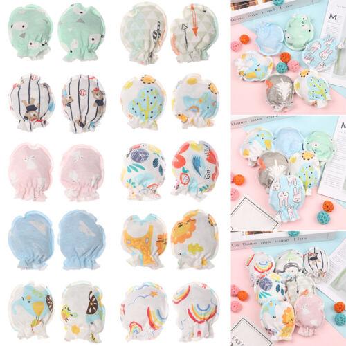 1//5//10 Pairs Newborn Baby Safety Gloves Winter Cotton Anti Scratch Mittens Hot