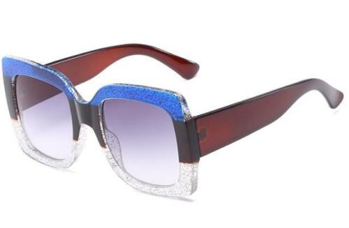 Überdimensional Luxus Designer Sonnenbrille DAMEN-FRAUEN Retro Groß Quadratisch