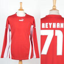 Puma style rétro à manches longues football shirt soccer jersey rouge & blanc reyhan l