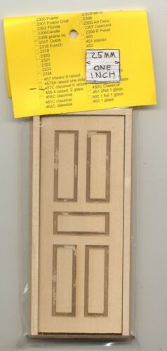 5 Raised Panel Door 2331 wooden dollhouse miniature 1:12 scale Made in USA