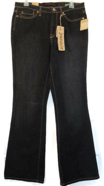adc5fd849e0 Jeanstar Mercury Boot Cut Jeans 10 Womens Black Low Rise 5 Pocket Stretch  New