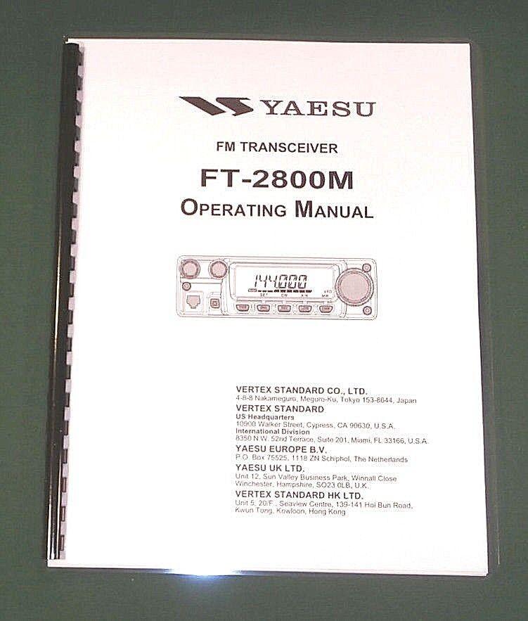 lacey_communications Yaesu FT-2800M Instruction Manual -  Premium Card Stock Covers & 28 LB Paper!