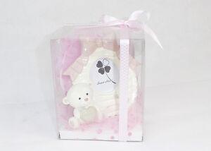 Bomboniera-quadro-orsetto-rosa-con-scatola-trasp-Battesimo-nascite-bimba