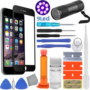 sports shoes 2f21a b1346 Details about Black iPhone 6/6S Glass Screen Replacement Repair Kit, Loca  Glue, UV Torch Light