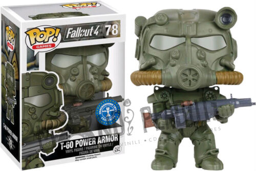 T-60 POWER ARMOR GREEN Funko Pop Fallout 4 LIMITED Figure Pop Games