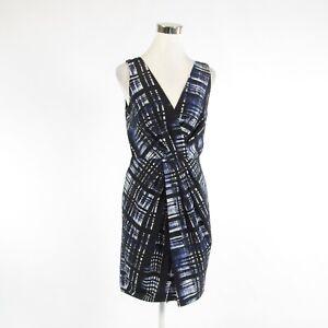 Midnight-blue-geometric-cotton-blend-BANANA-REPUBLIC-sleeveless-sheath-dress-6