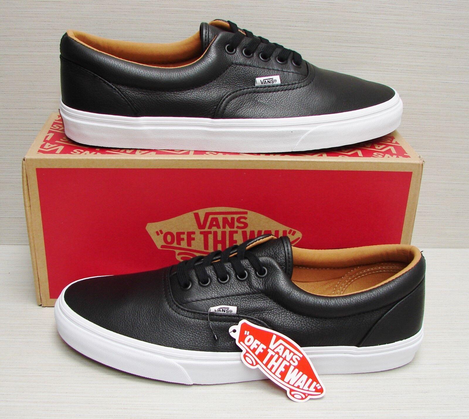 Vans Men's Era Premium Leather Black VN000Y6XEW9 Size: 6.5