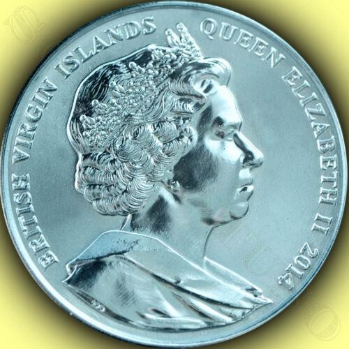 2014 Turquoise Seahorse 990 TITANIUM Coin in BOX with COA British Virgin Islands