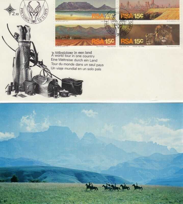 Commemorative Stamp & Envelope Set - A World Tour in One Country 1975