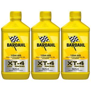 3-LITRI-OLIO-MOTORE-MOTO-4T-4-TEMPI-Bardhal-Bardahl-XT-4-XT4-C60-RACING-10W60