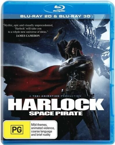 1 of 1 - Harlock Space Pirate (Blu-ray, 2014) Toei Animation Action Sci Fi Like New R4