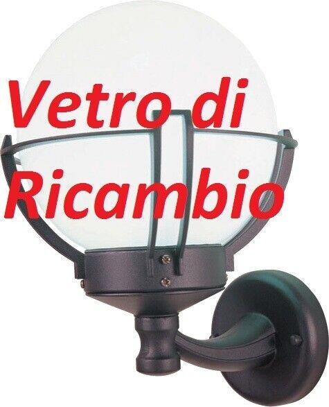 ricambio vetro globo opaco protezione per lanterna lampione esterno