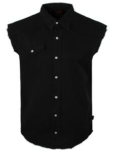 Spiral-Sleeveless-Work-Shirt-Plain-Black