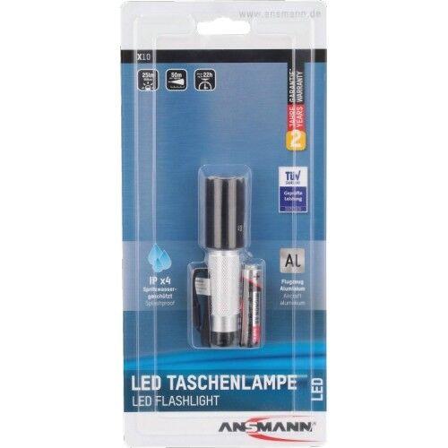 Ansmann DEL Métal Lampe de poche x10 Boîtier Métallique Lumière Lumière Lumière DEL 550113