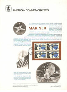 47-10c-Mariner-Spacecraft-1557-USPS-Commemorative-Stamp-Panel-w-FDC