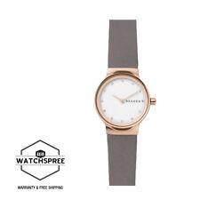 Skagen Ladies' Freja Grey Leather Strap Watch SKW2669