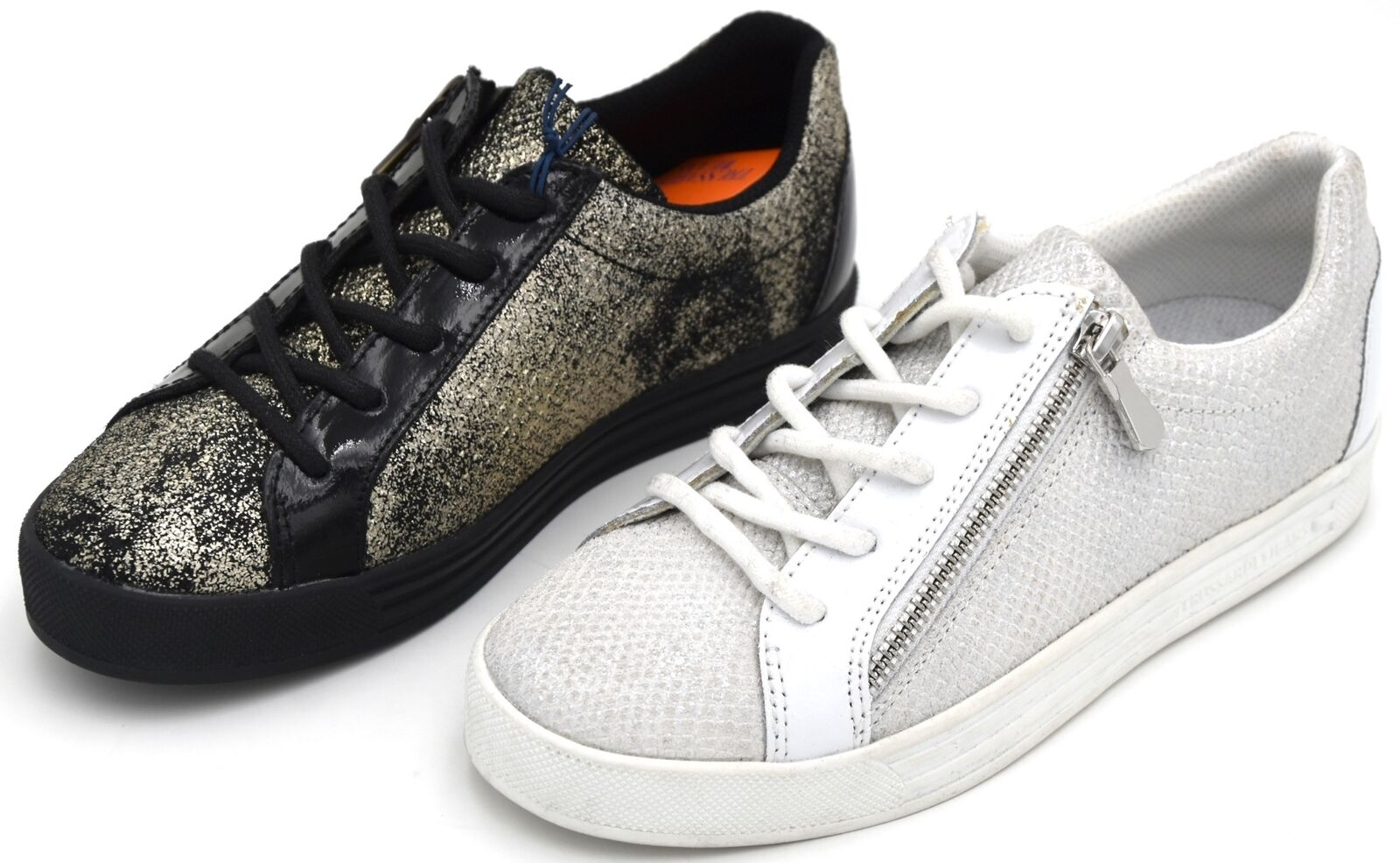 TRUSSARDI JEANS WOMAN SNEAKER CASUAL FREE TIME REPTILE STAMP CODE 79A00237