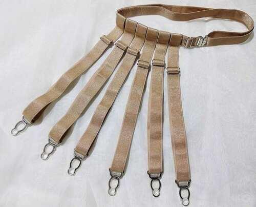 Strumpfgürtel verstellbar ca 40-100cm 6 Strapshalter sw br Strapse Strumpfhalter