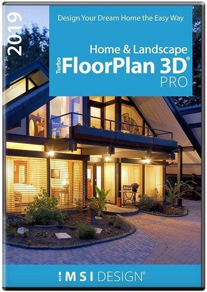 TurboFloorPlan Pro 2019 Home and Landscape Design CAD Software Download 2