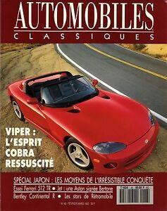 AUTOMOBILES-CLASSIQUES-n-48-FEVRIER-1992-FERRARI-512ST-VIPER-ASTON-JET