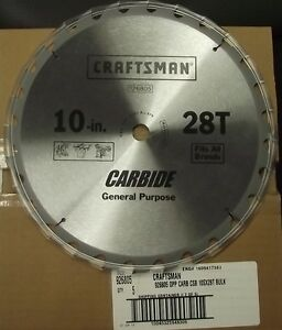 Craftsman 26805 10 Quot X 28 Tooth General Purpose Carbide