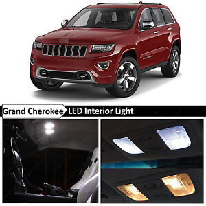18x White Led Interior Lights Package Kit 2011 2015 Jeep Grand Cherokee Tool