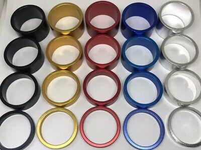 "UK Set of 4 1-1//8/"" Impel Components Aluminium Alloy Headset Spacers 5//10//15//20mm"
