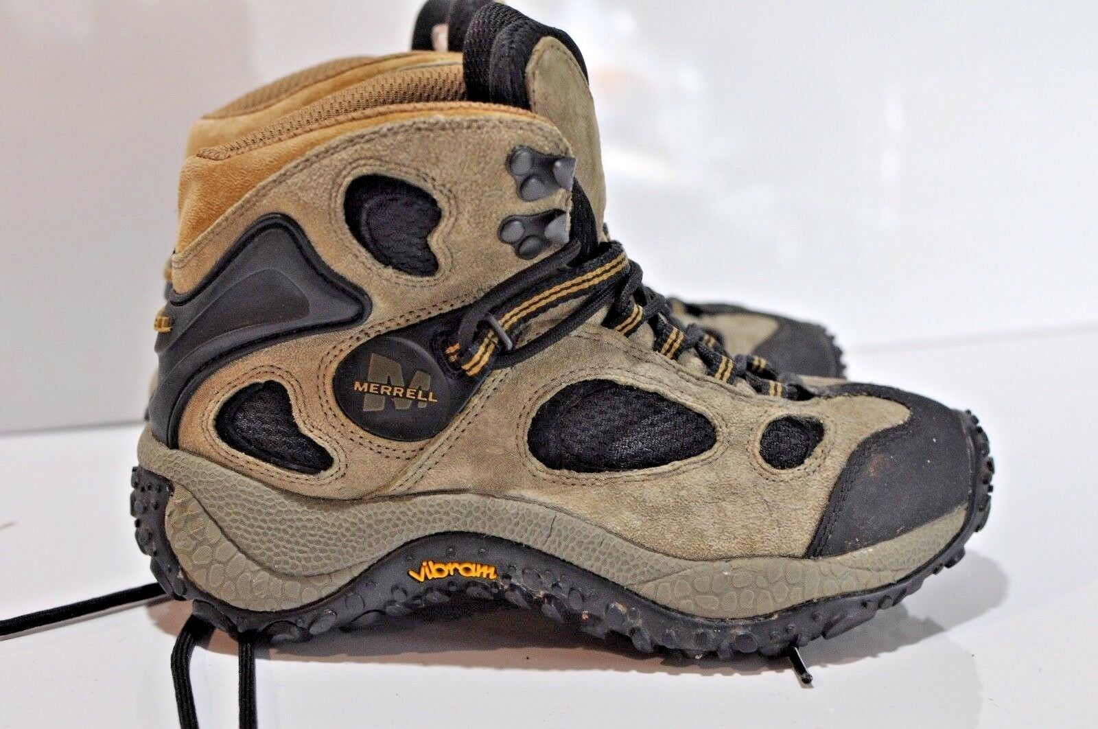 Merrell donna leather Hiking trail trail trail stivali Dimensione 6.5 Vibram soles f65f42