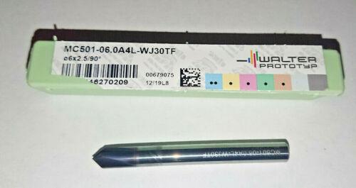 6mm WALTER PROTOTYP SOLID CARBIDE 45 DEG CHAMFER END MILL MC501-06.0A4L-WJ30TF