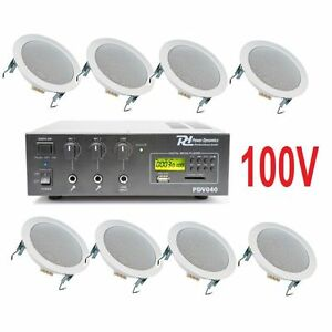 Impianto audio attivo filodiffusione 100v amplificatore 8 altoparlanti incasso ebay - Filodiffusione casa ...