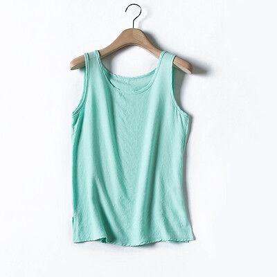 Women Polyester Ethnic Vest Tank Shirt Ladies Plain Vintage Cami Strappy Top Tee