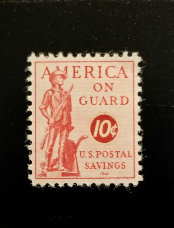 1941 10c U.S. Postal Savings Stamp, America on Guard Sc