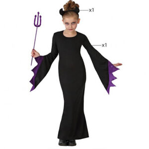 Costume-da-lady-MORTICIA-costume-ragazza-Halloween-Tg