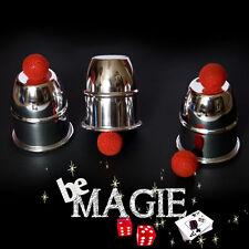 Gobelets magiques - Aluminium - Balles - Tour de magie