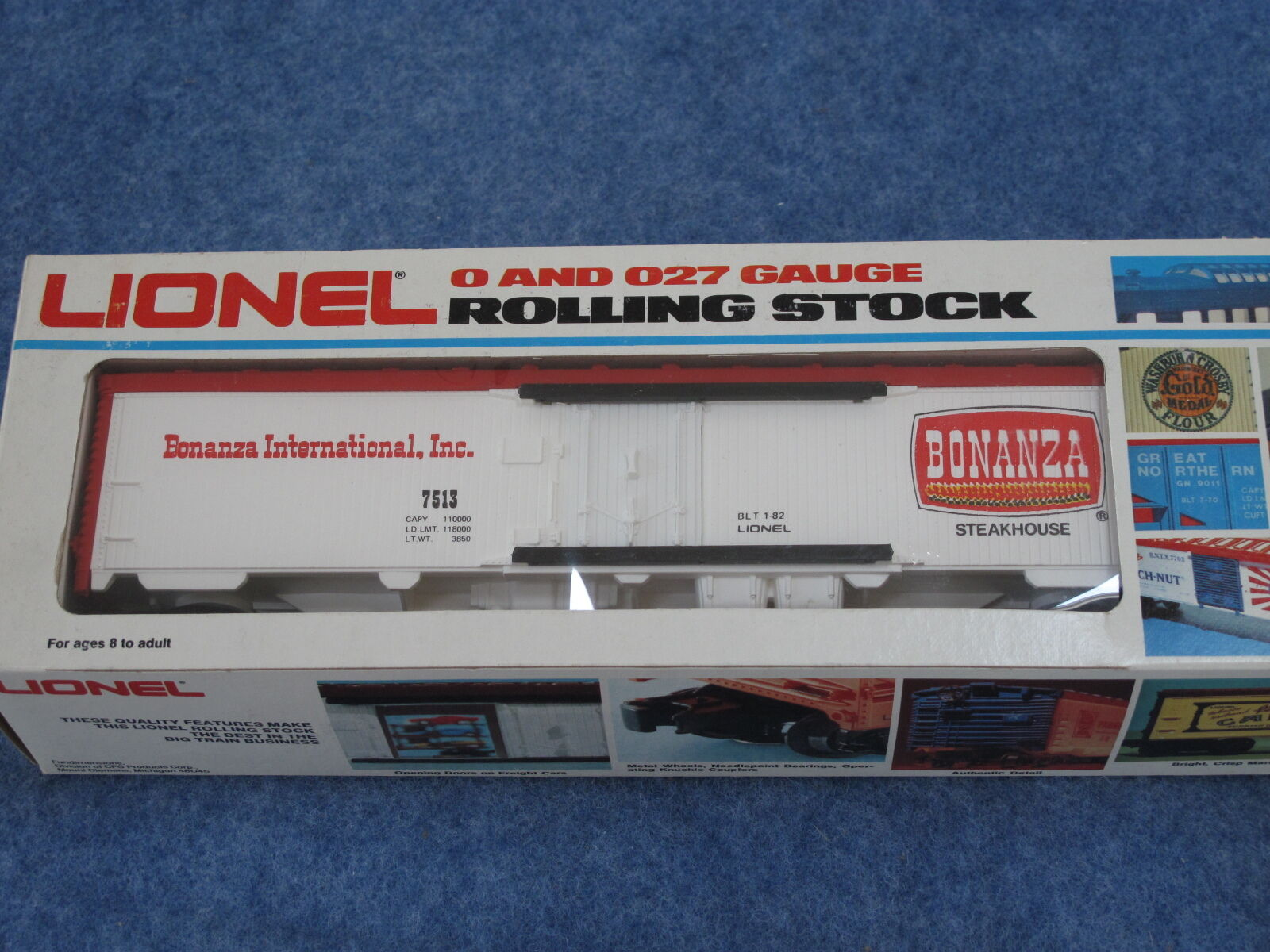 1982 Lionel 6-7513 Bonanza Steakhouse Reefer New in Box L1605