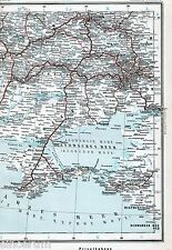 Mariupol Crimea Крим 1901 orig. Eisenbahn-Atlas-Teilkarte Харків Charkiw Kertsch