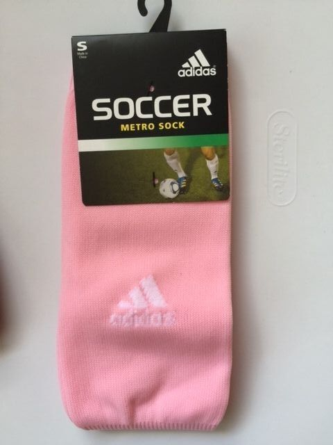 df335020b28c adidas Men s Metro III Soccer Sock Gala Pink white Small Youth Shoe Size 13c