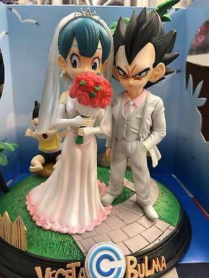 DragonBall Z Vegeta /& Bulma Wedding Anime Figure Toys Wedding Place Gifts Trunks
