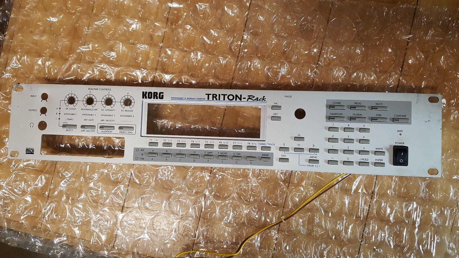 Korg Triton Rack FRONT PANEL, Buttons, Plastic Screen cover, Power Switch+screws
