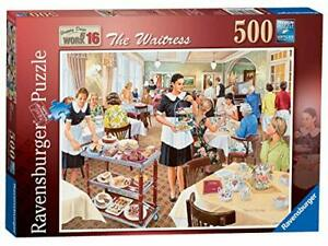 Ravensburger-Jigsaw-Puzzle-THE-WAITRESS-Nostalgic-Scene-Afternoon-Tea-500-Piece
