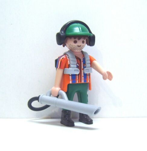 6840 Playmobil Mann mit Laubbläser Boys Serie 10