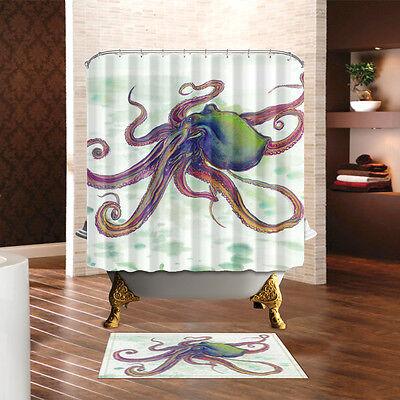 Baseball Fire Theme Waterproof Fabric Home Decor Shower Curtain Bathroom Mat