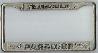 Rare Temecula California Paradise Chevrolet Cadillac Vintage License Plate Frame Ebay