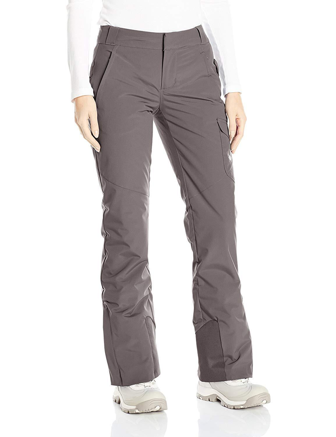 Spyder Women's Me Tailored Fit Pants, Ski Snowboarding Pant, Size 4, Inseam Reg