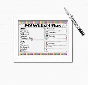 Kids Hebdomadaire Planificateur Calendrier hebdomadaire, Enfants Routine Planner, routine quotidienne graphique  </span>