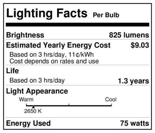 Westinghouse 0333600-75 Watt H19 Incandescent Glowescent® Light Bulb