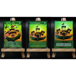 Yugioh-Orica-Toon-Kingdom-3-Different-versions-HOLO-Custom-Card-ANIME