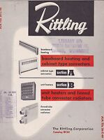VINTAGE CATALOG #2918 - 1950 RITTLING BASEBOARD HOME HEATING