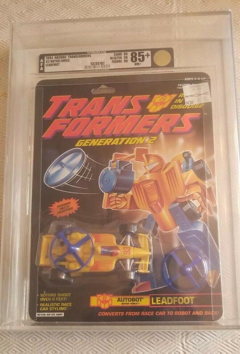 Transformers Generation 2 Leadfoot (Hasbro 1994) AFA 85+ 85 90 90 90 90 705e63